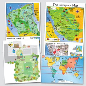 Wirral Wall Map